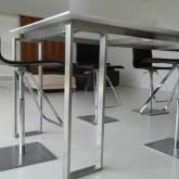 table design by Andrea Oliva with the same proportions of the house © Erika Mazza 2012