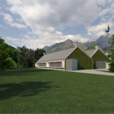 render of pavilion and surrounding environment