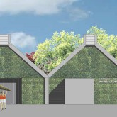 render of rowers occupying pavilion