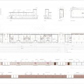 changing rooms - plans, sections, elevations © PBEB Architetti 2007