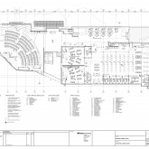 Ground Floor Plan: The Forum is located on the western side of this level ©Wilson Architects