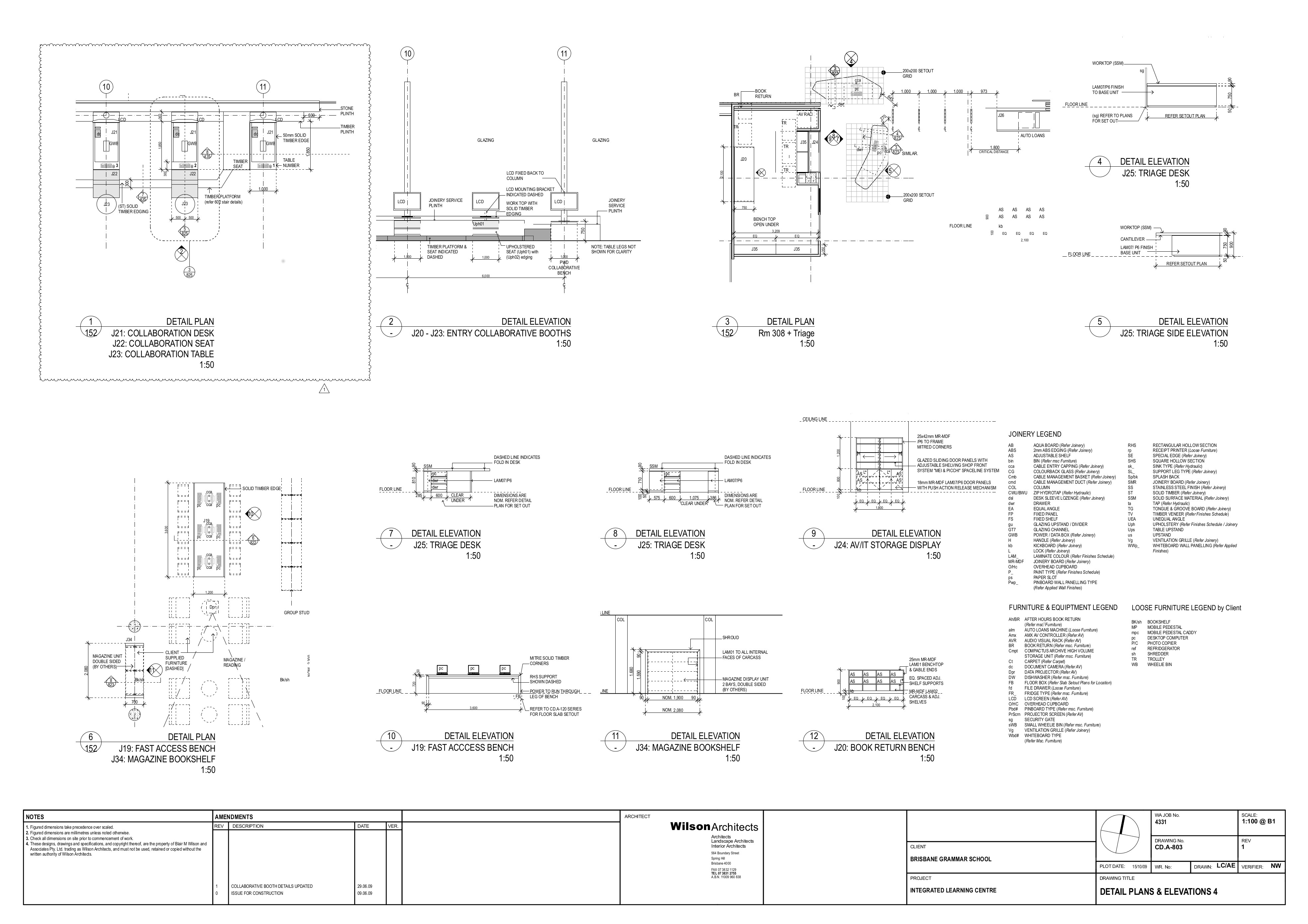 Furniture Detailing Drawings Furniture Details ©wilson