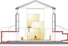 Chiesa di Brembo a Dalmine, PBEB Architetti, Bergamo, Italy, 2008 (Draft Proposals: Competition Entry: Drawings)