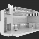 Long Sectional Model with Roof and Wall Details  © PBEB  2008