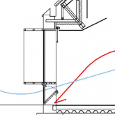 heating and cooling system in section
