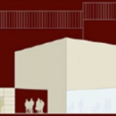 Architectural drawings - Side view of the main entrance © Marco Castelletti