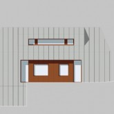 Architectural drawings-Side view of the house ( wooden windows of the bedrooms) © Marco Castelletti