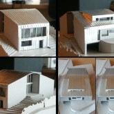Architectural 3d model -3d model, looking to all the 4 sides of the house © Marco Castelletti