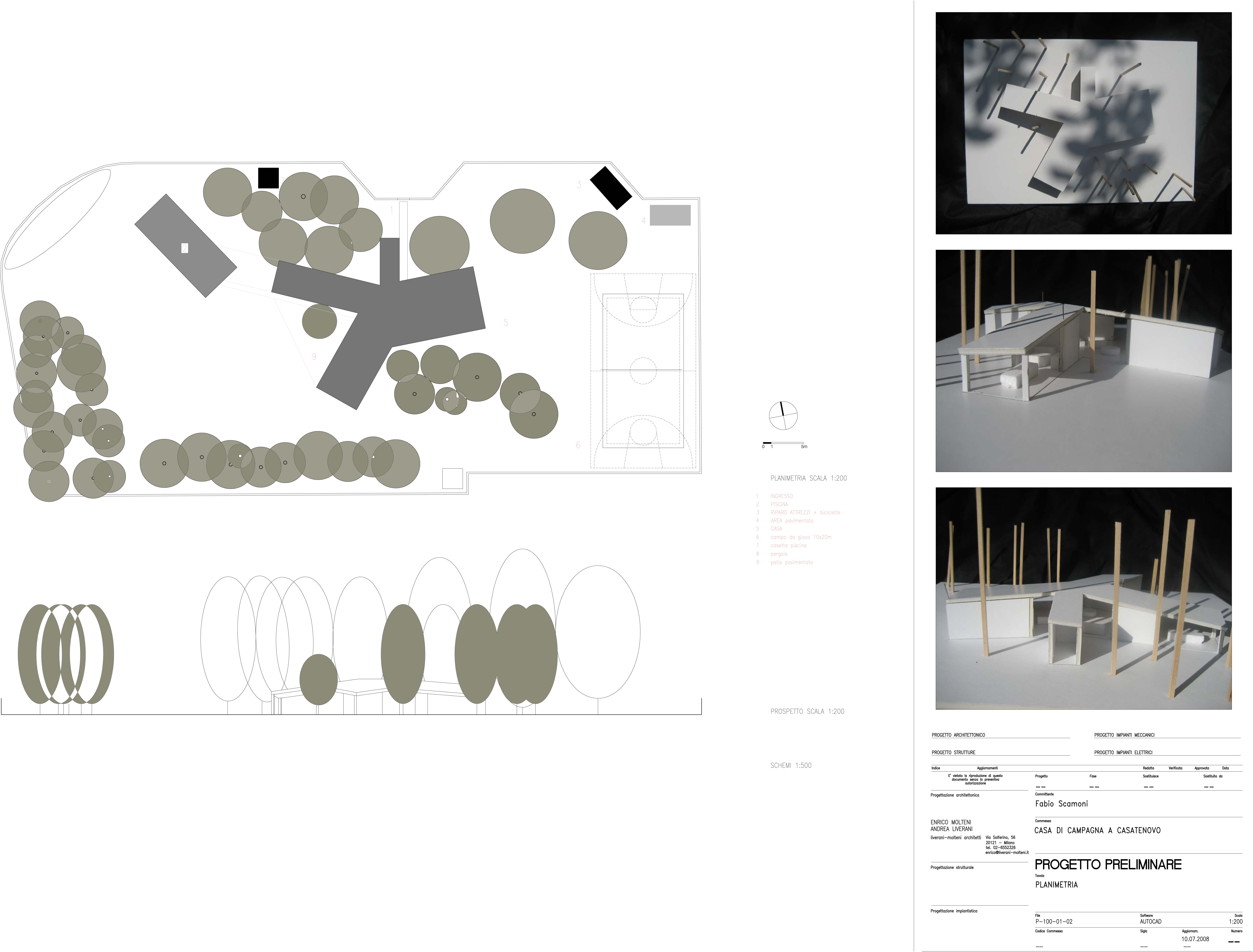 Casa per regista, Casatenovo, Lecco, Italy, 2011 (fifth draft proposal)