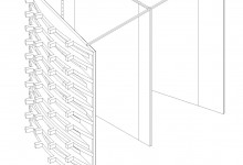 Bastard Store, studiometrico, Milan, Italy, 2008 (construction drawings: fitting room)
