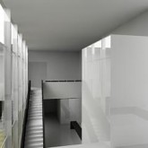 3D view of lift and stairs © Dap Studio