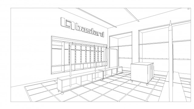 Bastard Store, studiometrico, Milan, Italy, 2008 (construction drawings: niche)