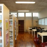 furniture placed in the real space-table for reading© Pantelina Polychronidou - Niki Georgiou 2012