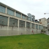 view of the industrial building at the back of the building in the atrium© Pantelina Polychronidou - Niki Georgiou 2012