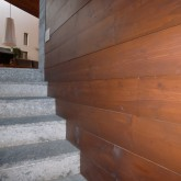 wood wall and marble stone stairs © inês feio 2012