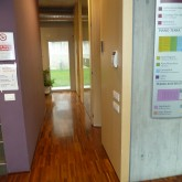 ground floor-offices near entrance, the lift used as a divider of the space© Pantelina Polychronidou - Niki Georgiou 2012