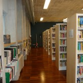furniture placed in the real space-libraries and coat hanger for clothes© Pantelina Polychronidou - Niki Georgiou 2012