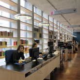 first floor-help desk at the middle of reading area for adults© Pantelina Polychronidou - Niki Georgiou 2012