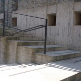 reinforced concrete and metal guard exterior stairs © inês feio 2012