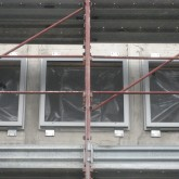 construction of windows of back view at first floor© studio Ortalli 2009