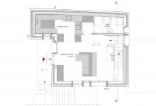 Casa UP, Enrico Scaramellini, Madesimo - Frazione Isola (SO), Italy, 2011 (Furniture disposition: plans)