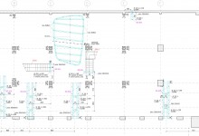 Nuova sede EDI, RMA + tiarstudio, Milan, Italy, 2011 (constructional drawings: supporting steel structures)