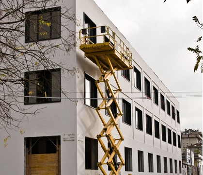Offices in Via Zumbini, Binocle, Milano, Italy, 2008-2011 (building site)