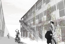 Offices in Via Zumbini, Binocle, Milano, Italy, 2008-2011 (final proposal)